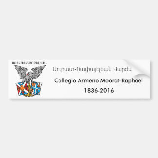 Collegio Armeno Moorat-RAPHAEL Auto-Autoaufkleber Autoaufkleber