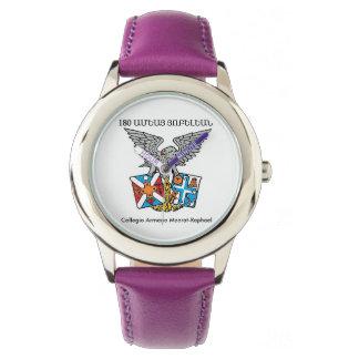 Collegio Armeno rostfreier Stahl lila Uhr