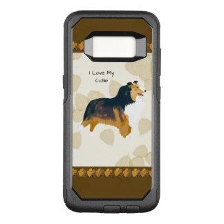 Collie auf TAN-Blätter OtterBox Commuter Samsung Galaxy S8 Hülle