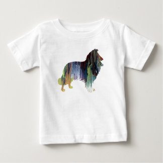 Collie-Kunst Baby T-shirt