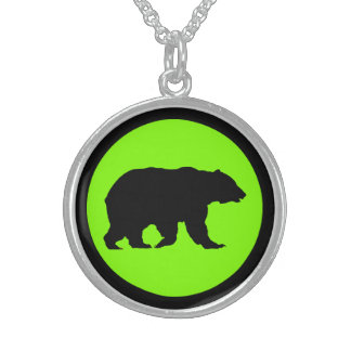 Collier Chartreuse rond d'argent sterling d'ours
