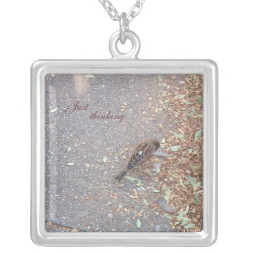 Collier/oiseau et feuille