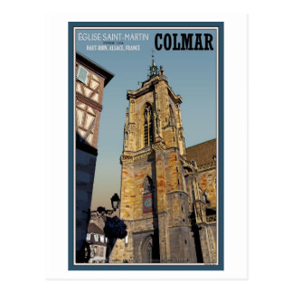 Colmar- - St- Martinskirche Postkarte