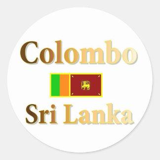 Colombo Runder Aufkleber