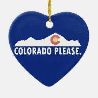 Colorado bitte keramik ornament