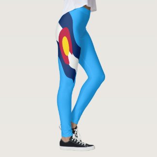 Colorado-Flagge 45 Grad Leggings