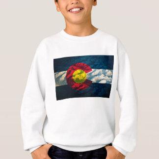Colorado-Flagge Felsen-Berge Sweatshirt