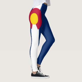 Colorado-Flagge volle Blutung von 90 Grad Leggings
