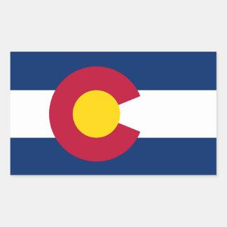 Colorado* Flaggen-Aufkleber Rechteckiger Aufkleber
