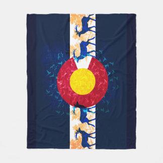 Colorado-Flaggennaturszenen-Fleecedecke Fleecedecke