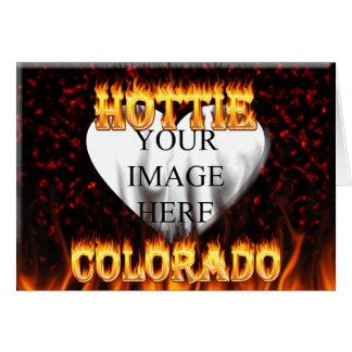 Colorado hottie Feuer und Flammenentwurf Karte