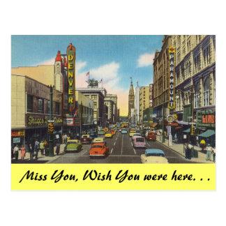 Colorado, im Stadtzentrum gelegenes Denver Postkarte