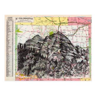 Colorado-Karten-Kunst Postkarte