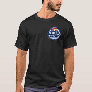 Colorado-Landschwarzdoppeltes versah T-Shirt mit