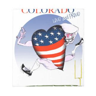 Colorado laute und stolz, tony fernandes notizblock