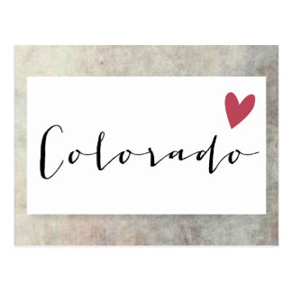 Colorado-Liebe Postkarte