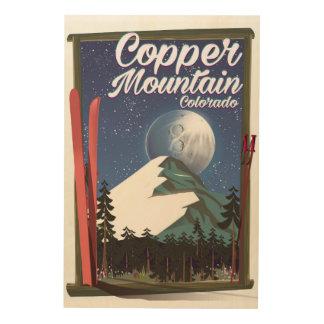 Colorado-Reiseplakat Kupfer-Berg Holzdruck