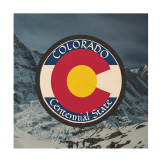 Colorado-Rundschreiben-Flagge Holzdruck