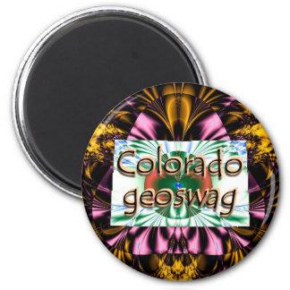 Colorado-Staat Geocaching liefert Magneten Geoswag Runder Magnet 5,7 Cm