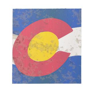 Colorado-Staats-Flagge Notizblock
