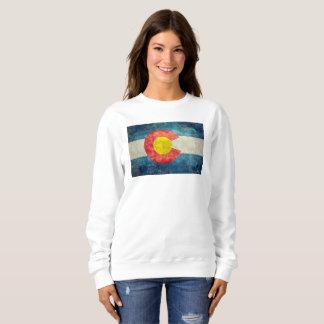 Colorado-Staatsflagge mit Vintagem retro grungy Sweatshirt