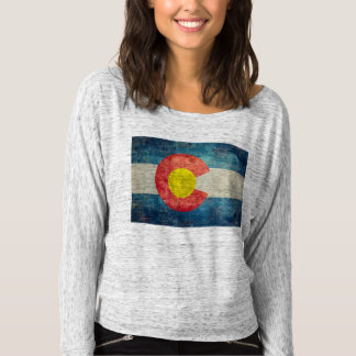 Colorado-Staatsflagge mit Vintagem retro grungy T-shirt