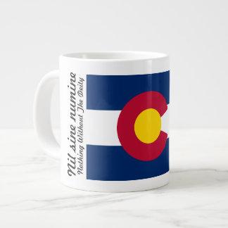 Coloradoflagge und -motto 20 Unze-Tasse Jumbo-Tasse