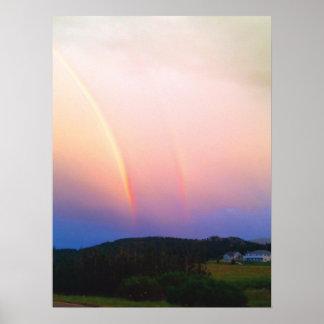 Coloradoregenbogen-und -gebirgsplakat poster