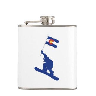 Coloradosnowboard-Flagge Flachmann