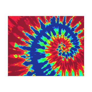 """Colorant bleu-foncé et rouge 14"""" de cravate"""" art x impressions sur toile"""