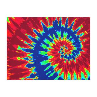 """Colorant bleu-foncé et rouge 24"""" de cravate"""" art x impression sur toile"""