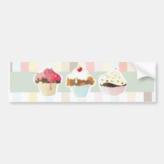 colorful cupcake sticker autoaufkleber