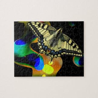 Colorfull Schmetterlings-Puzzlespiel