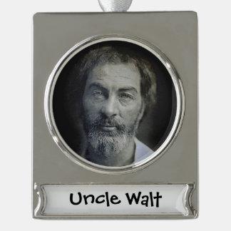 Colorized Walt Whitman Porträt Banner-Ornament Silber