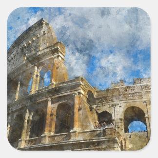 Colosseum in altem Rom Italien Quadratischer Aufkleber