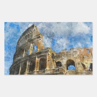Colosseum in altem Rom Italien Rechteckiger Aufkleber