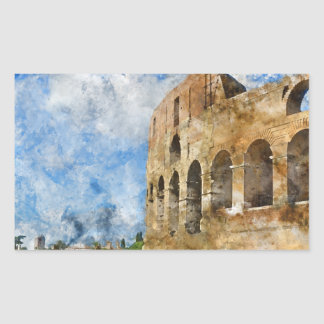 Colosseum in Rom, Italien Rechteckiger Aufkleber