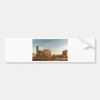 Colosseum und Bogen von Constantine (Rom) Autoaufkleber