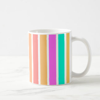 Colourful Geometric stripes design Kaffeetasse