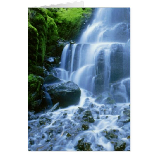 Columbia River Wasserfall-Geldstrafe-Foto Karte