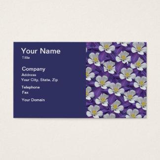 Columbine-Blumen-Muster Visitenkarten
