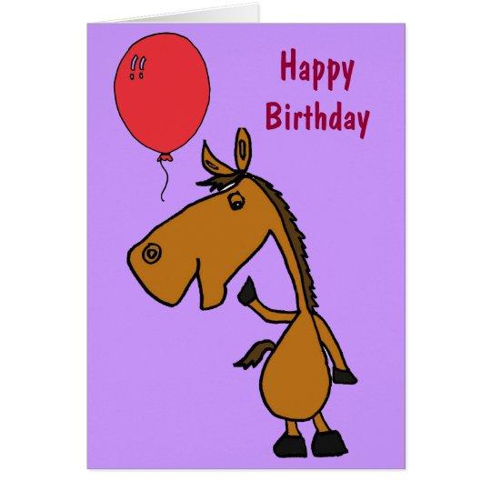 COLUMBIUM PferdeCartoon-Geburtstags-Karte Grußkarte