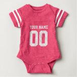 Combinaison rose faite sur commande de bébé de tee-shirt