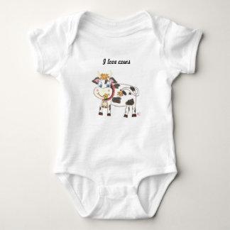 Combinaison suisse du Jersey de bébé de vache Body
