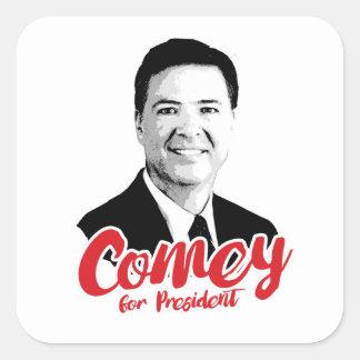 Comey für Präsidenten - - Quadratischer Aufkleber
