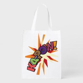 Comic-Buch-Pop-Kunst KA-POW! Wiederverwendbare Einkaufstasche