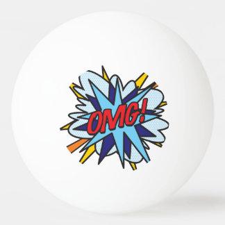 Comic-Buch-Pop-Kunst OMG Ping-Pong Ball
