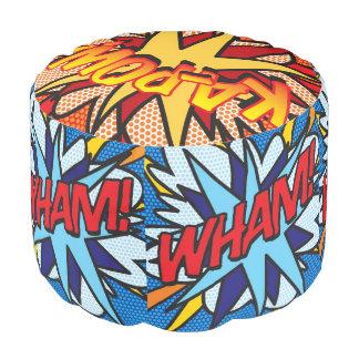 Comic-Buch-Pop-Kunst WHAM! KA-POW! PLATSCH! Hocker