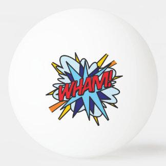 Comic-Buch-Pop-Kunst WHAM KNALL Tischtennis Ball