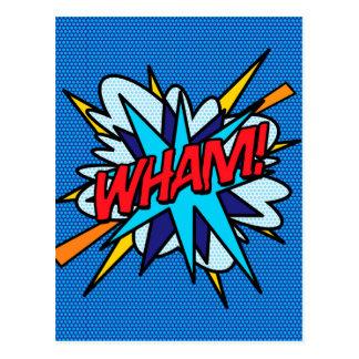 Comic-Buch-Pop-Kunst WHAM! Postkarte